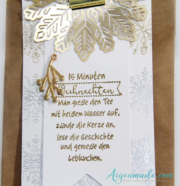 15 Minuten Weihnachten Anleitung.15 Minuten Weihnachten In Der Tüte Aigenmade Stampin Up