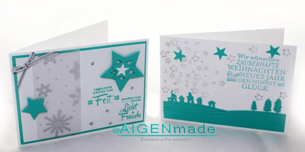 Moderne Weihnachtskarten Basteln.Weihnachtskarten Aller Arten Von Aigenmade Stampin Up Aigenmade