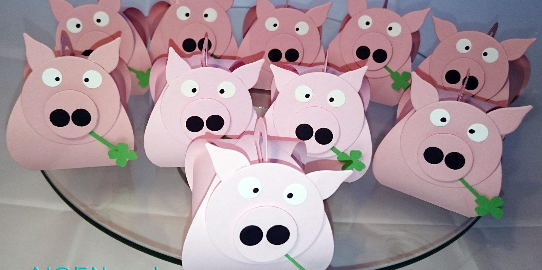 Silvester Basteln glücksbringer schweinchen für silvester aus papier aigenmade
