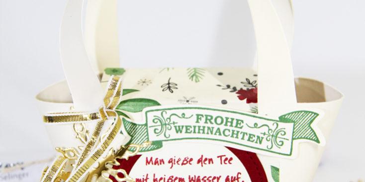 15 Minuten Weihnachten Anleitung.15 Minuten Weihnachten Mini Taschen Markt Geschenksidee